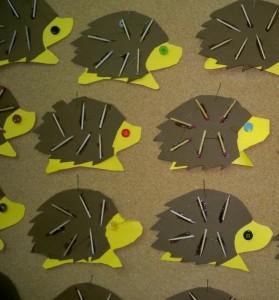 match hedgehog craft idea for kids