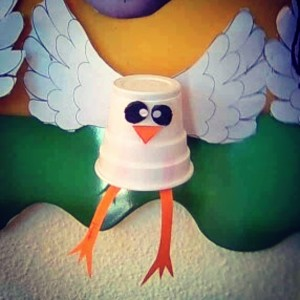 paper cup bird craft