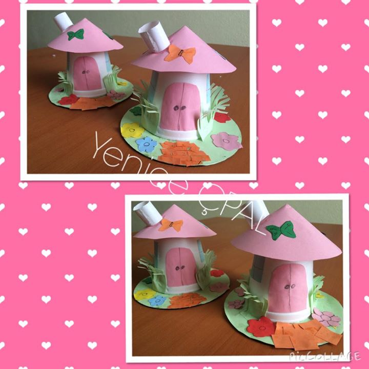 paper cup house craft