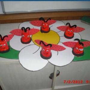 paper cup ladybug craft