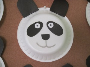 paper plate panda bear craft