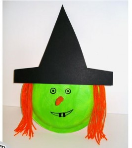 paper plate witch craft