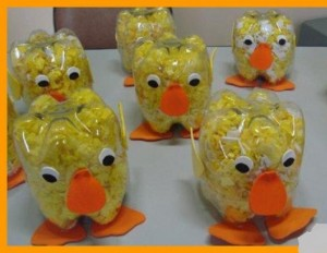 plastic bottle chick craft