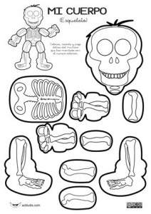 skleton coloring page