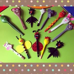wooden spoon animal craft