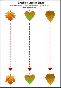 Fall-Leaf-Tracing-Lines-Worksheet-For-Kids