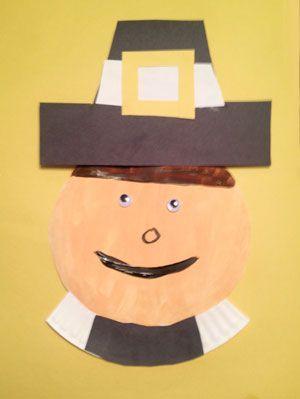 Paper Plate Pilgrim Man Craft