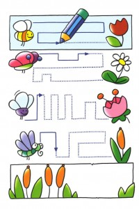 animals trace line worksheets (1)