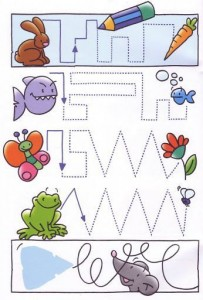 animals trace line worksheets (2)