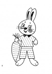 bunny trace worksheet