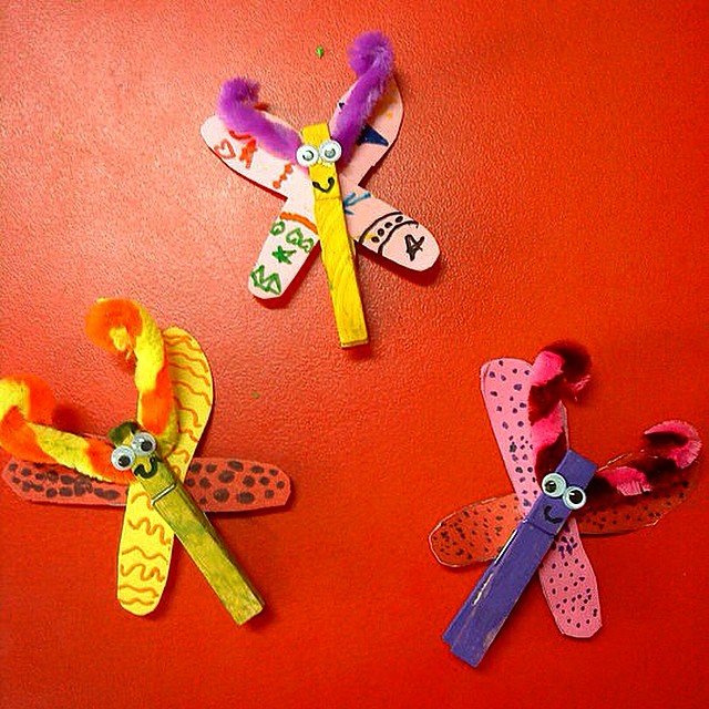 clothespin butterfly craft
