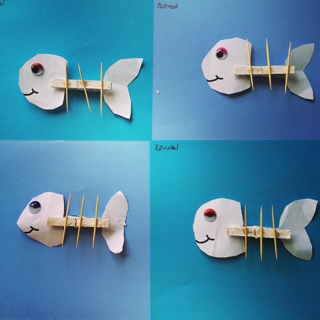 clothespin-fish-craft Worksheet Vegetables Kindergarten on color shapes, beginning sounds, free alphabet, reading sight words, ordinal numbers,