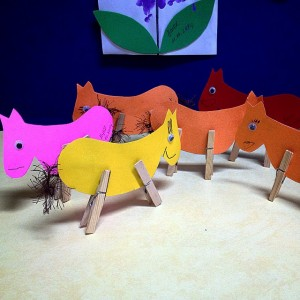 clothespin horse craft