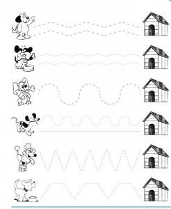 dog trace worksheet