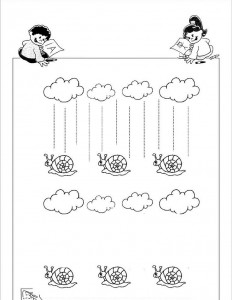 free fall trace line worksheets (3)
