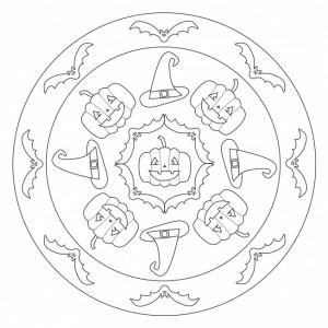 halloween mandala for preschool