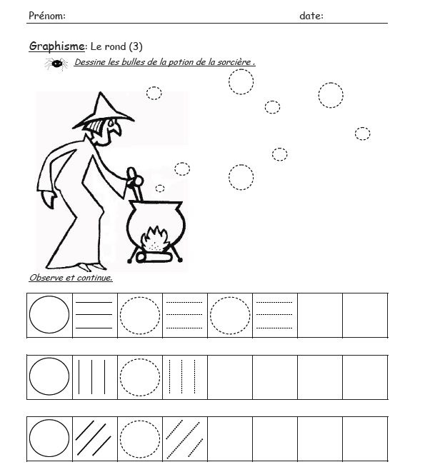 halloween trace worksheet