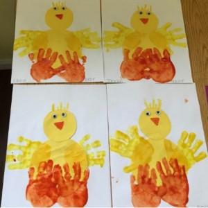 handprint chick craft (1)