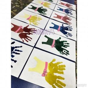 handprint dress craft