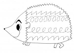 hedgehog trace worksheet
