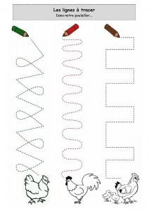 hen trace worksheet
