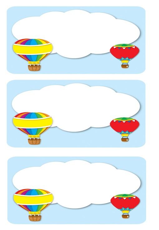 hot air balloon name label