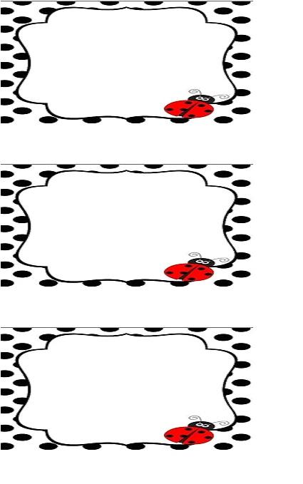 ladybug name card