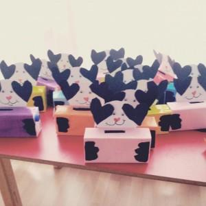 milk box dog craft