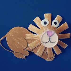 paper cup lion craft