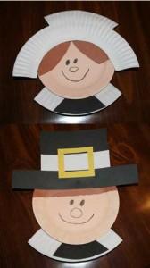 paper plate pilgrim craft