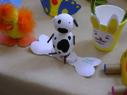 ping pong ball dog craft