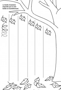 printable fall trace line worksheet  (3)