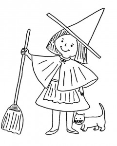 printable witch coloring page (2)