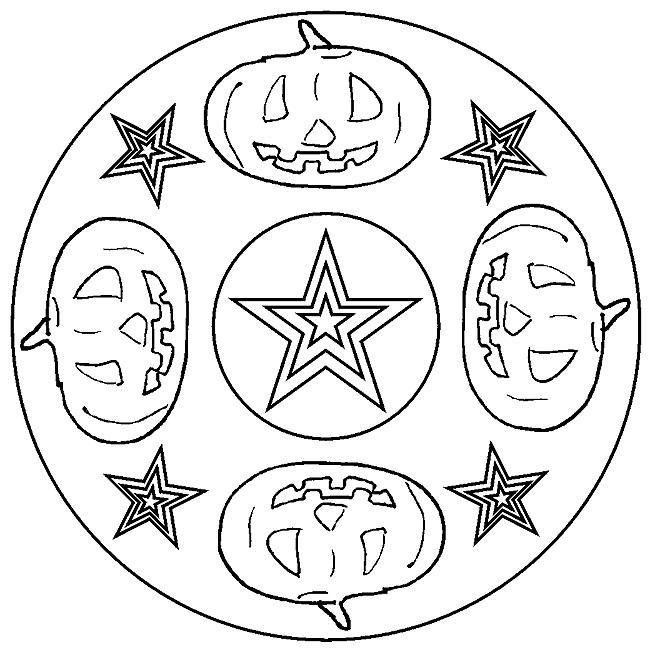 pumpkin mandala coloring