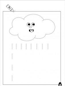 rain trace line worksheet