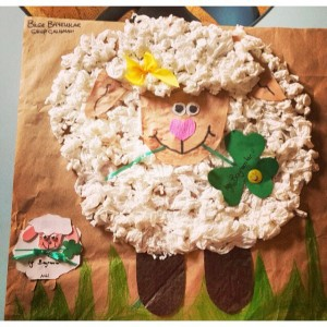 sheep bulletin board