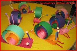 snail craft idea for kids