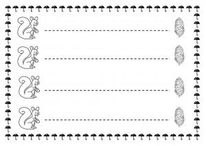 squirrel trace line worksheet for kids