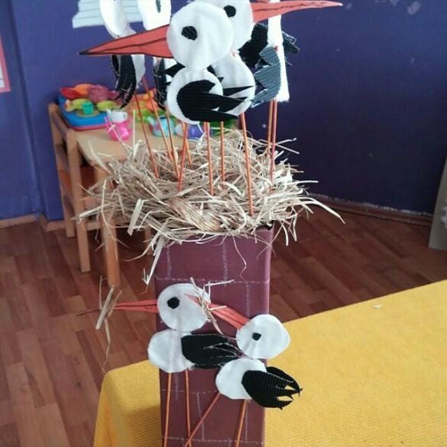 stork bulletin board idea for kids
