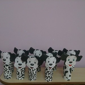 toilet paper roll Dalmatian craft
