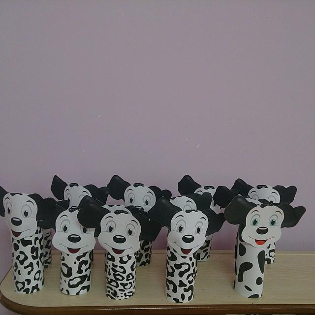 toilet paper roll Dalmatian craft