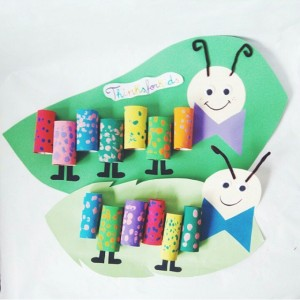 toilet paper roll caterpillar craft