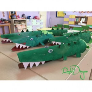 toilet paper roll crocodile craft
