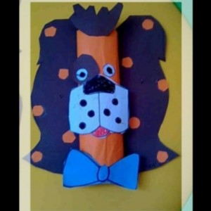 toilet paper roll dog craft