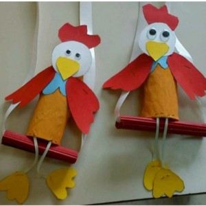 toilet paper roll hen craft