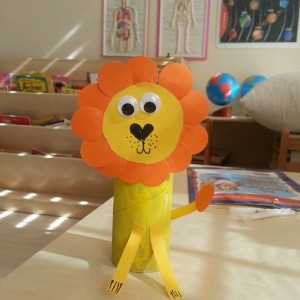 toilet paper roll lion craft