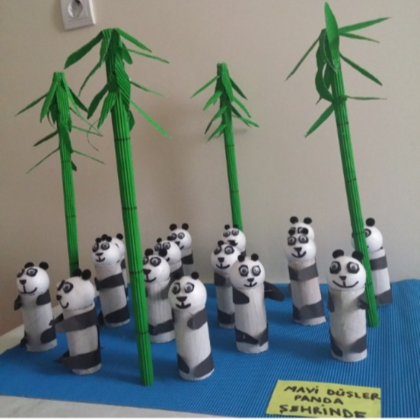 toilet paper roll panda craft