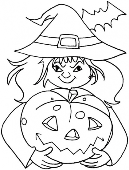 witch coloring for halloween (4)