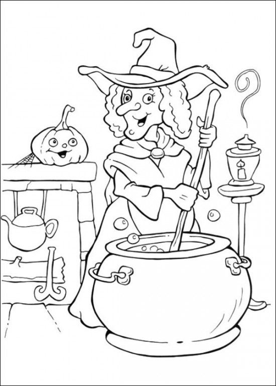 witch coloring page for kids (5)