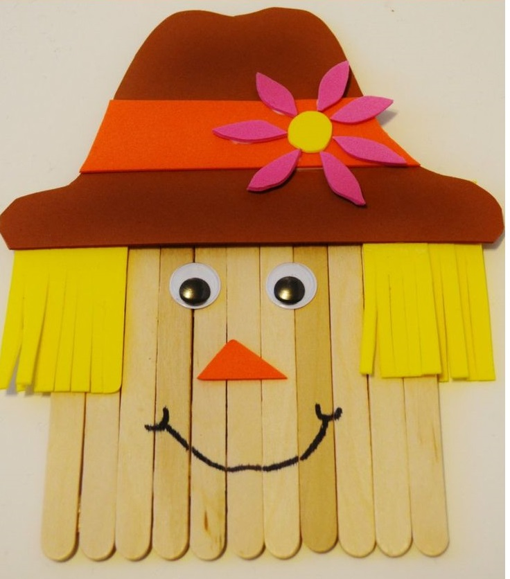 Craft Stick Scarecrow Fall Crafts for Kids